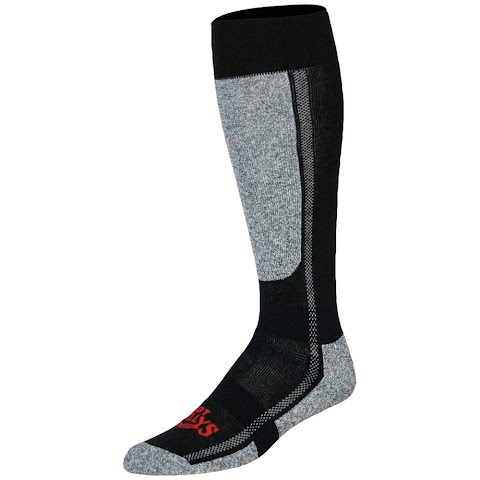 Image of Hot Chillys Men ' S Classic Mid Volume Sock - Black / Heather