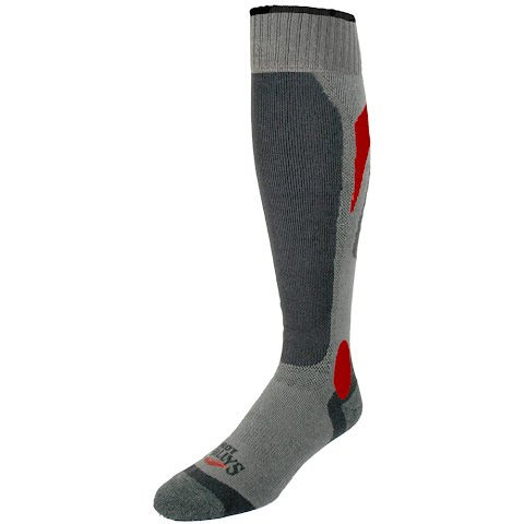 Image of Hot Chillys Men ' S Flame Lo Volume Sock - Navy / Flame