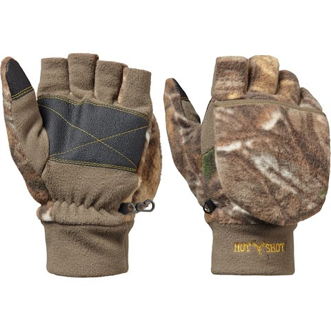 Hot Shot Boy ' S Youth Bulls – Eye Pop – Top Mittens – Realtree Xtra