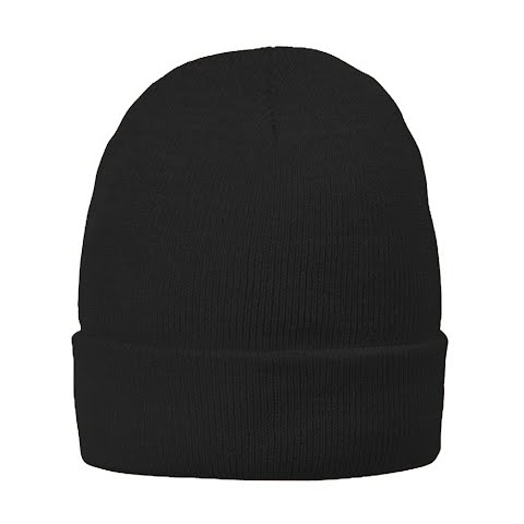 Product image of Hot Shot Fine Acrylic Knit Cuff Cap - Black