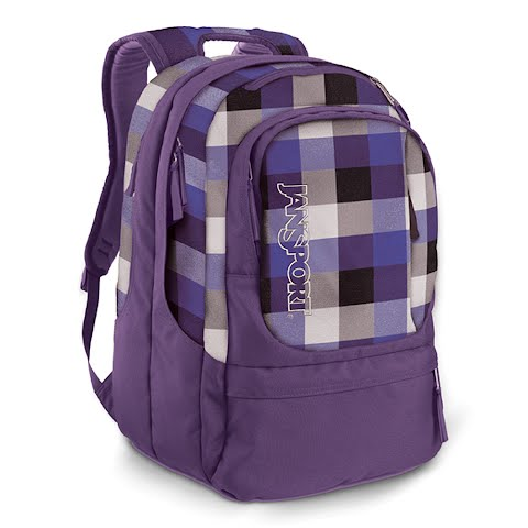 Image of Jansport Air Cure Day Pack - Gry Tar / Purple Slick