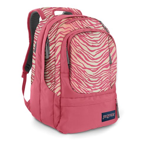 Image of Jansport Air Cure Day Pack - Pink Prep / Coral Sparkle