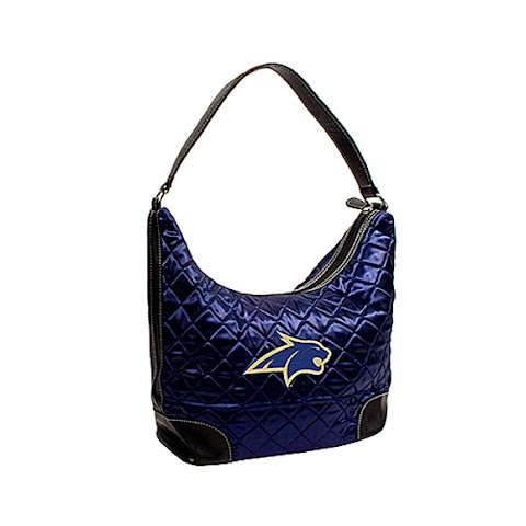 Littlearth Montana State University Bobcats Quilted Hobo Purse - Msu Bobcats (771964 QLTDHBPRSB) photo