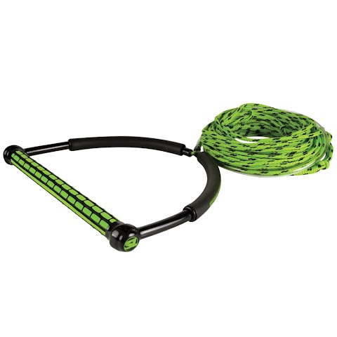 Image of Liquid Force Straightline 65ft Eva Tr9 Braid Rope With Static - Green
