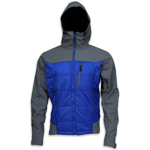 Image of M T Mountaineering Mens Summit Jacket - Blue / Charcoal
