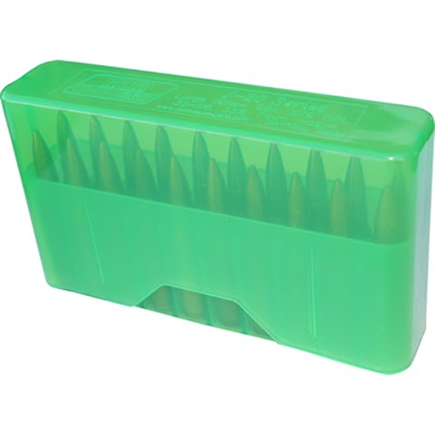 Mtm Case – Gard 20 Round Slip Top Rifle Ammo Box ( Large ) – Clear Green