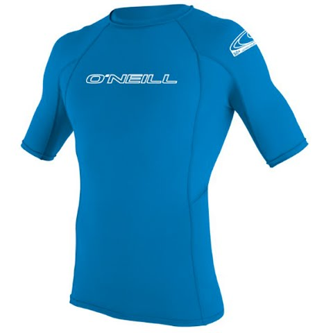 Product image of Oneill Youth Basic Skins S / S Crew Rashguard - Brite Blue