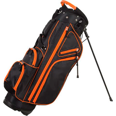 Image of Pinemeadow Golf Courier 3 . 0 Stand Bag - Black / Orange