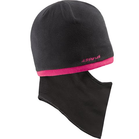 Product image of Seirus Youth Junior Quick Clava Fleece Knit Beanie - Black / Berry