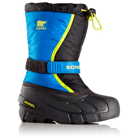 Product image of Sorel Youth Flurry Winter Boot - Black / Super Blue