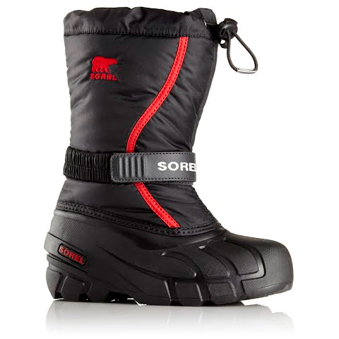 Product image of Sorel Youth Flurry Winter Boot - Black / Bright Red