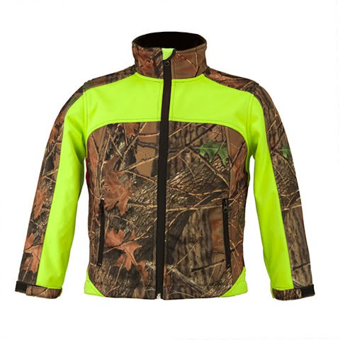 Product image of Trail Crest Youth Custom Xrg Soft Shell Jacket - Neon Green
