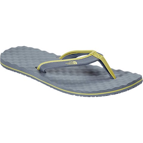 Product image of The North Face Womens Base Camp Mini Flip Flop - Sedona Sage Grey / Gold Finch Yellow