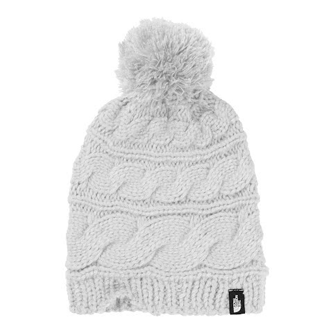 Product image of The North Face Women's Triple Cable Pom Beanie - White