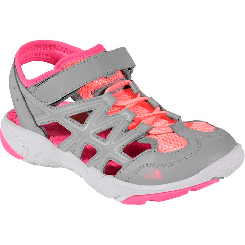 Product image of The North Face Youth Hedgehog Sandals - Q Silver / Cha Cha Pink
