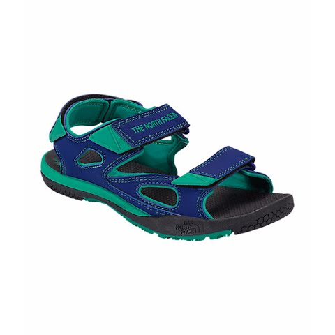 Product image of The North Face Youth Jr Base Camp Coast Ridge Sandals - Marker Blue / Blarney Green