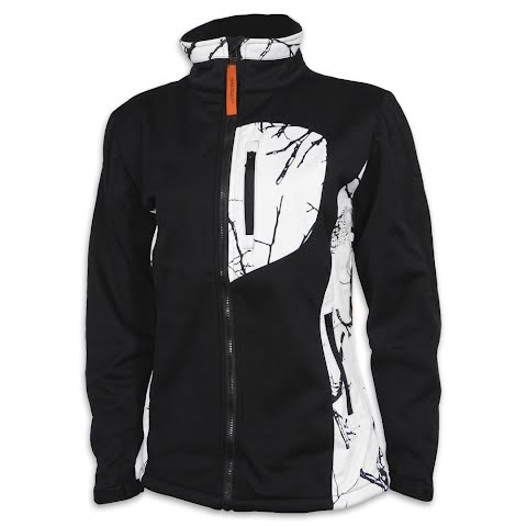 Product image of Trail Crest Women ' S Custom Xrg Softshell Jacket - Snow Camo / Black