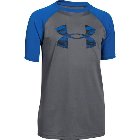 Product image of Under Armour Boy ' S Youth Big Logo Tech Short Sleeve Tee - Graphite