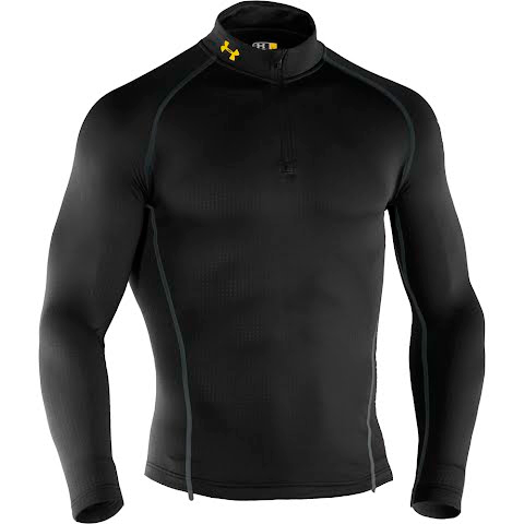 Product image of Under Armour Mountain Mens Ua Base 2 . 0 1 / 4 Zip Top - Black
