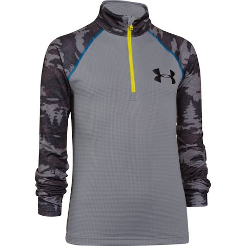 Product image of Under Armour Youth Thermal 1 / 4 Zip - Steel / Sun Bleached
