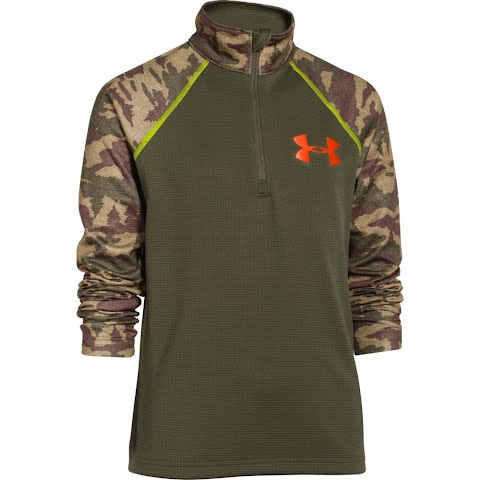 Product image of Under Armour Youth Thermal 1 / 4 Zip - Greenhead / Toxic