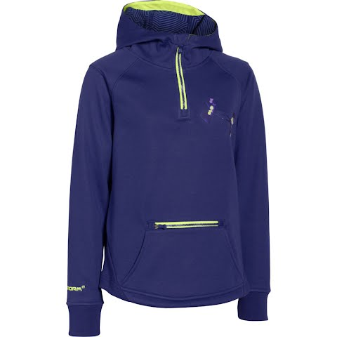 Product image of Under Armour Mountain Girl ' S Youth Ua Storm Coldgear Infrared Dobson 1 / 2 Zip Jacket - Europa