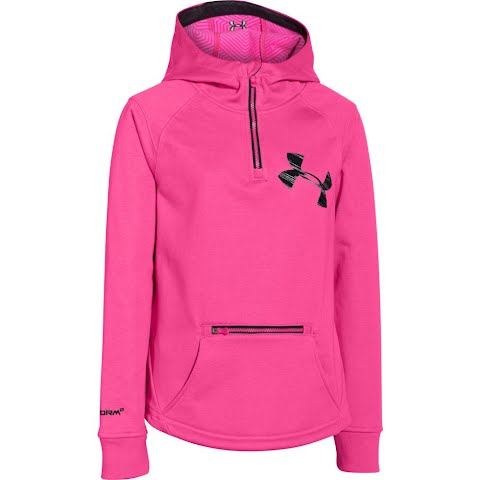 Under Armour Mountain Girl ' S Youth Ua Storm Coldgear Infrared Dobson 1 / 2 Zip Jacket - Rebel Pink