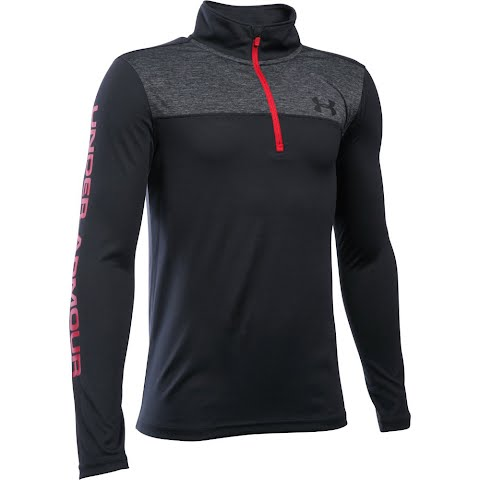 Product image of Under Armour Boy's Youth Tech 1 / 4 Zip - Black / Black