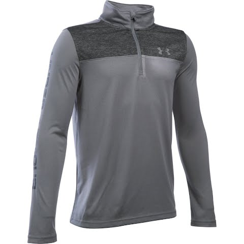 Product image of Under Armour Boy ' S Youth Tech 1 / 4 Zip - Graphite / Black