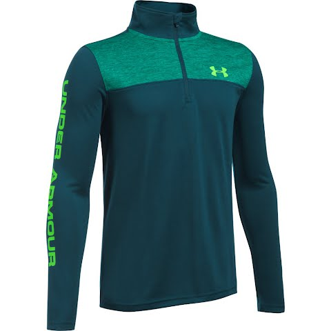 Product image of Under Armour Boy ' S Youth Tech 1 / 4 Zip - Geode Green