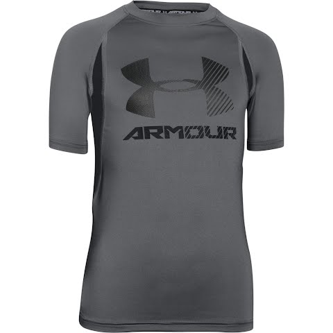 Product image of Under Armour Boy ' S Youth Heatgear Armour Up Digi Fitted Short Sleeve Shirt - Graphite