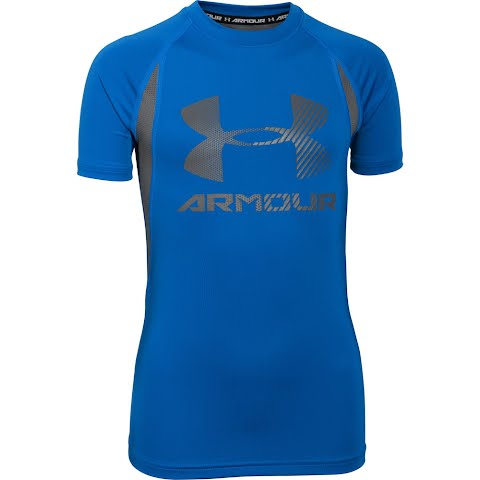 Product image of Under Armour Boy ' S Youth Heatgear Armour Up Digi Fitted Short Sleeve Shirt - Ultra Blue