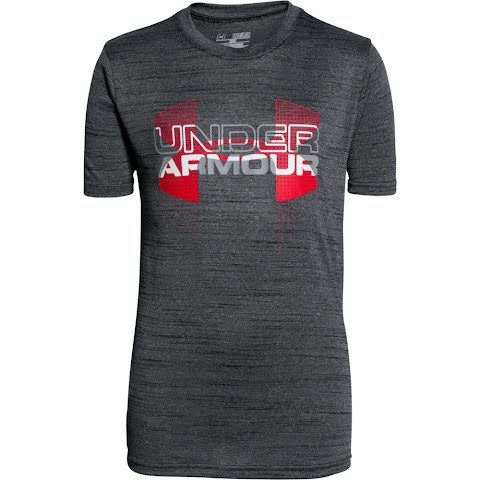 Product image of Under Armour Boy ' S Youth Tech Big Logo Hybrid T - Shirt - Black / Red