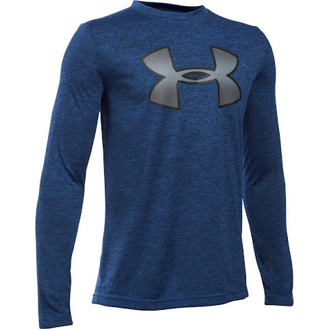 Product image of Under Armour Boy ' S Youth Novelty Big Logo Long Sleeve T - Shirt - Ultra Blue / Graphite