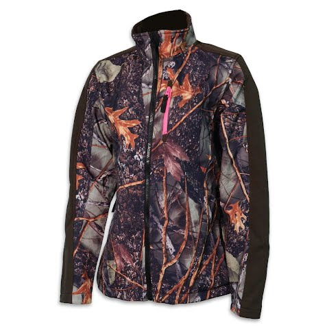 Product image of World Famous Women ' S Soft Shell Camouflage Hunting Jacket - Burly Camo