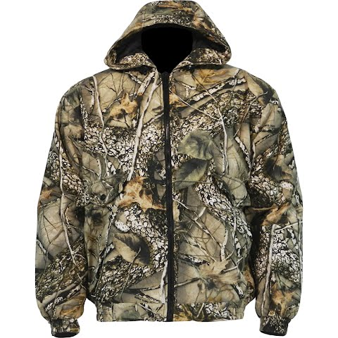 World Famous Mens Insulated Cotton Jacket – Burly Camo Tan
