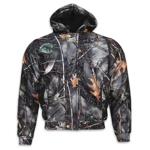 World Famous Men ' S Waterproof Warp Knit Insulated Hooded Jacket – Burly Camo