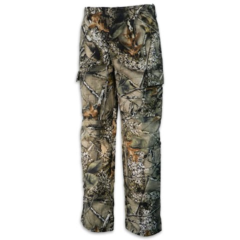 World Famous Men ' S 6 Pocket Cotton Camo Pant – Burly Camo Tan