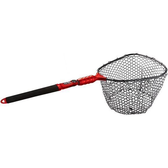 Ego nets s2 slider compact landing net rubber mesh for Rubber fishing nets