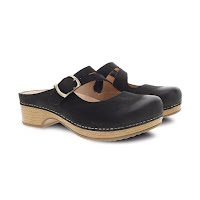 Dansko Women's Britney Black Burnished Nubuck Image