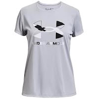 Under Armour Youth Girl's UA Tech Graphic Big Logo Short Sleeve Image