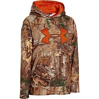 Under Armour Boy`s Youth UA Armour Fleece Camo Big Logo Hoodie Image