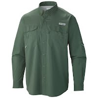 Columbia Mens PFG Blood and Guts III Long Sleeve Woven Shirt Image