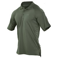 5.11 Tactical Men`s 5.11 Performance Short Sleeve Logo Polo Image