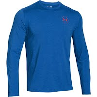 740dd668893 Under Armour Men's WWP Freedom Flag Long Sleeve T Shirt Image