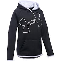 Under Armour Youth Girl's UA Armour Fleece Jumbo Logo Hoodie Image