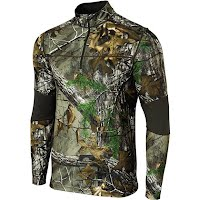 Terramar Men's Tracker 3.0 Camo 1/4 Zip Top Image