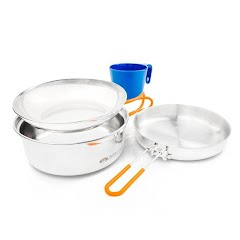 Gsi Outdoors Glacier Stainless 1 Person Mess Kit Image