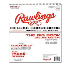 Rawlings System 17 Deluxe Baseball Scorebook Image