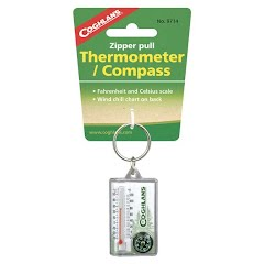 Coghlans Zipper Pull Thermometer with Compass Image